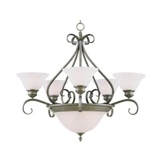 Pacific Pewter 7-light Multi Tier Chandelier
