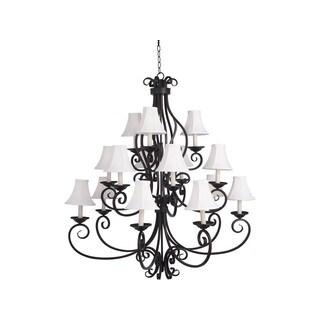 Manor Bronze 15-light Multi Tier Chandelier