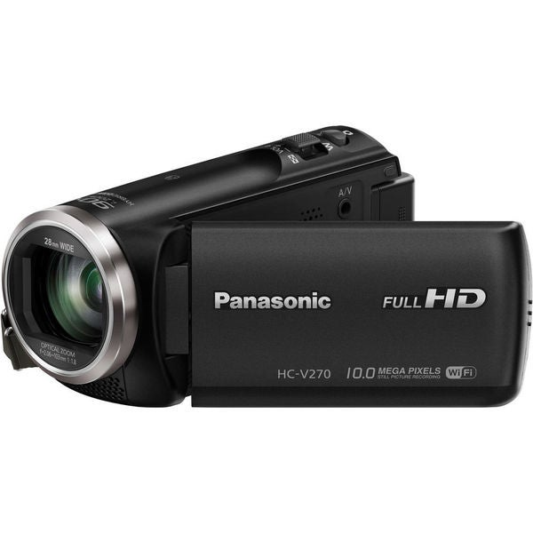 "Panasonic HC-V270 Digital Camcorder - 2.7"" - Touchscreen LCD - MOS -"