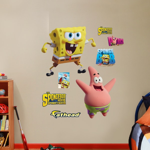 Fathead SpongeBob and Patrick - Sponge Out of Water Wall Decals