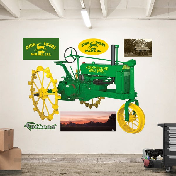 Fathead John Deere 1935 Model B Tractor Wall Decals Part 48