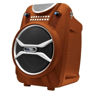 Pyle Boom Rock PWMAB210OR Speaker System - 200 W RMS - Portable - Bat