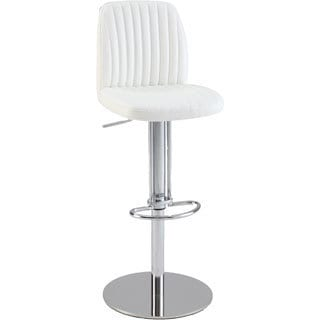 Christopher Knight Home White Ribbed Back and Seat Pneumatic Stool