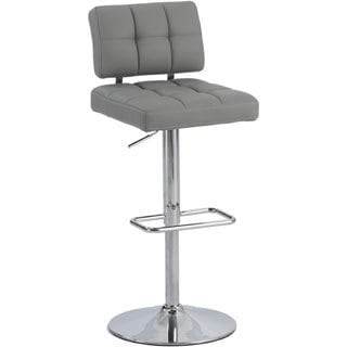 Christopher Knight Home Grey Tufted Back Pneumatic Stool