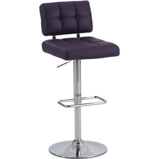 Christopher Knight Home Purple Tufted Back Pneumatic Stool