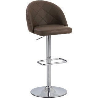 Christopher Knight Home Brown Diamond Pattern Pneumatic Stool