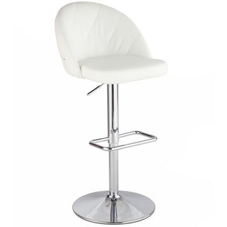Christopher Knight Home White Diamond Pattern Stool with Rhinestones