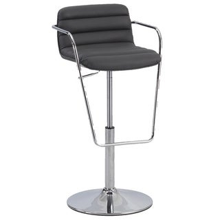 Christopher Knight Home Grey Ribbed Pattern Pneumatic Stool