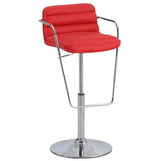 Christopher Knight Home Red Ribbed Pattern Pneumatic Stool