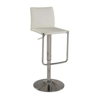 Christopher Knight Home White Low Back Pneumatic Stool