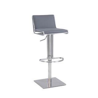 Christopher Knight Home Grey Slanted Backrest Contemporary Pneumatic Stool