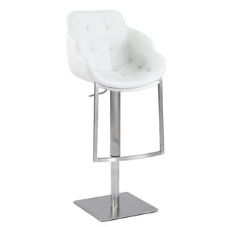 Christopher Knight Home White Tufted Contemporary Pneumatic Stool