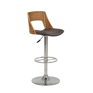Christopher Knight Home Wood Open Back Pneumatic Stool