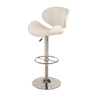 Christopher Knight Home White Oversize Pneumatic Swivel Stool