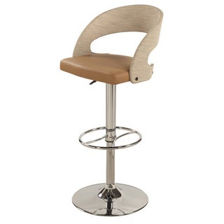 Christopher Knight Home Beige Curved Back Pneumatic Stool