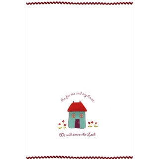 Set of 2 As For Me and My House Cotton Kitchen Towels (India)