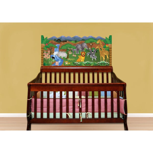 Green Jungle Baby Crib Mural