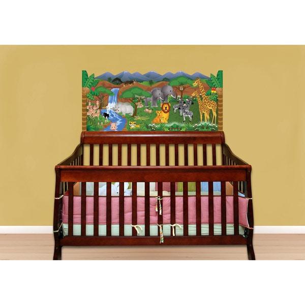 Green Jungle Baby Crib Mural