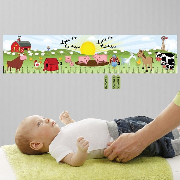 Play Farm Peel and Stick Baby Growth Chart