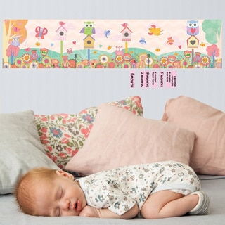 Birdhouse and Flower Peel and Stick Baby Growth Chart