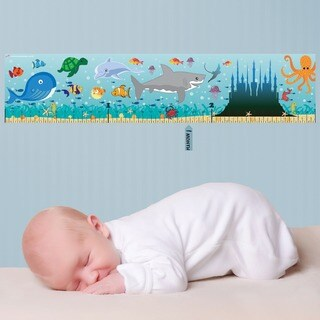 Ocean Peel and Stick Baby Growth Chart