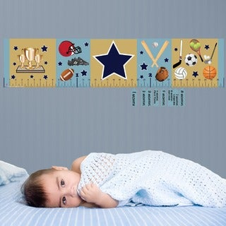 Sports Star Peel and Stick Baby Growth Chart