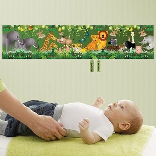 Green Jungle Peel and Stick Baby Growth Chart
