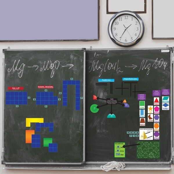 Peel Play and Learn Geometry Wall Set