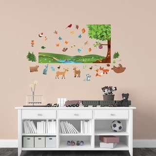 Peel and Play Forest Friends Interactive Wall Set