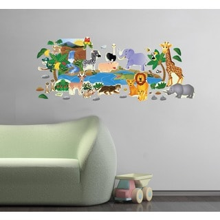 Peel and Play Jungle Friends Wall Set