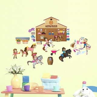Horse Friends Interactive Wall Decal Set