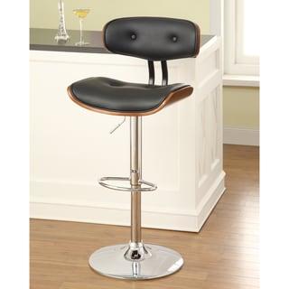 Furniture of America Jonas Scoop Frame Adjustable Swivel Bar Stool