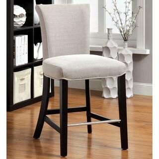 Furniture of America Leila Modern Flax Bar Chair (Set of 2)