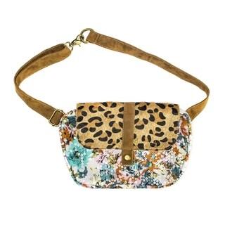Muk Luks Women's Sequin/ Leopard Print Hip Bag