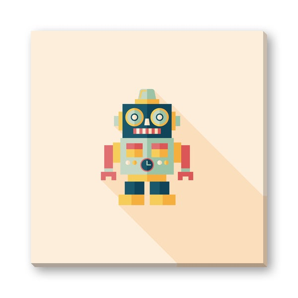 Eat Cute's 'Roy the Robot' Gallery Wrapped Canvas