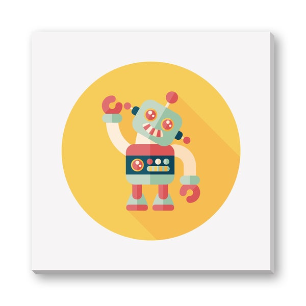 Eat Cute's 'Billy the Boy Robot' Gallery Wrapped Canvas