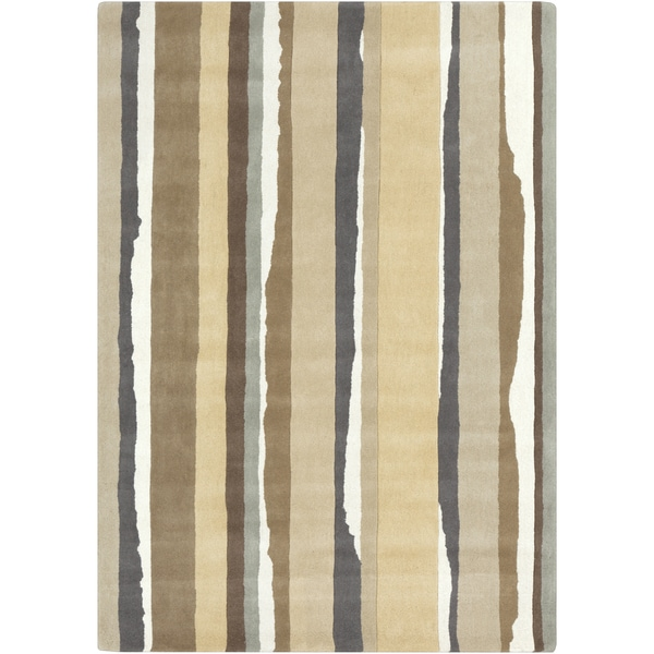 Sanderson :Hand-Tufted Lauryn Stripe Wool Rug (8' x 11')