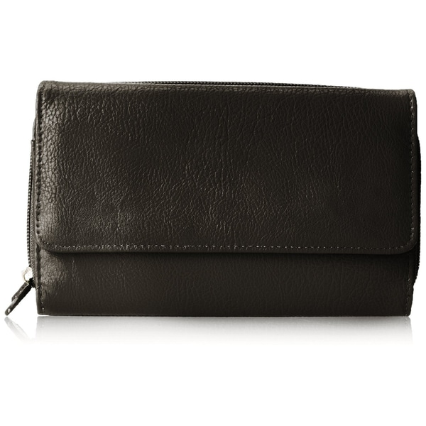 Mundi Big Fat Trifold Wallet, Black