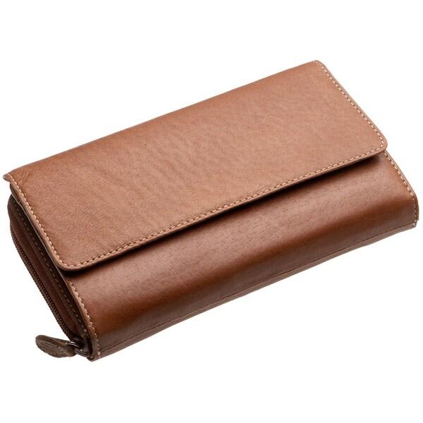 Mundi Big Fat Flap Wallet, Brown