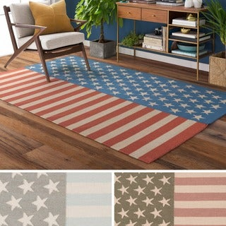 Hand-Woven Evelyn Contemporary Wool Rug (5' x 7'6)