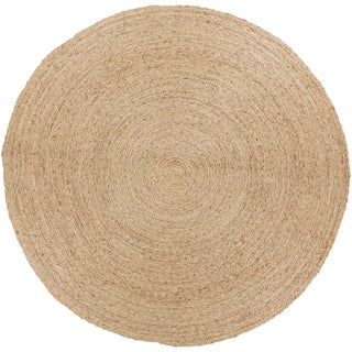 Country Living :Hand-Woven Hendrix Country Jute Rug (5' Round)