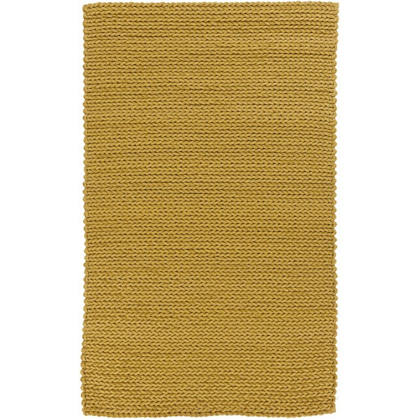 Hand-Woven Winifred Solid New Zealand Wool Rug (5' x 8')