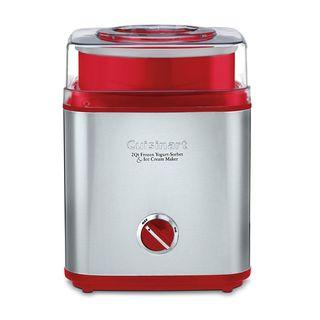 Cuisinart Pure Indulgence Silver/Red 2-Quart Automatic Frozen Yogurt, Sorbet, and Ice Cream Maker
