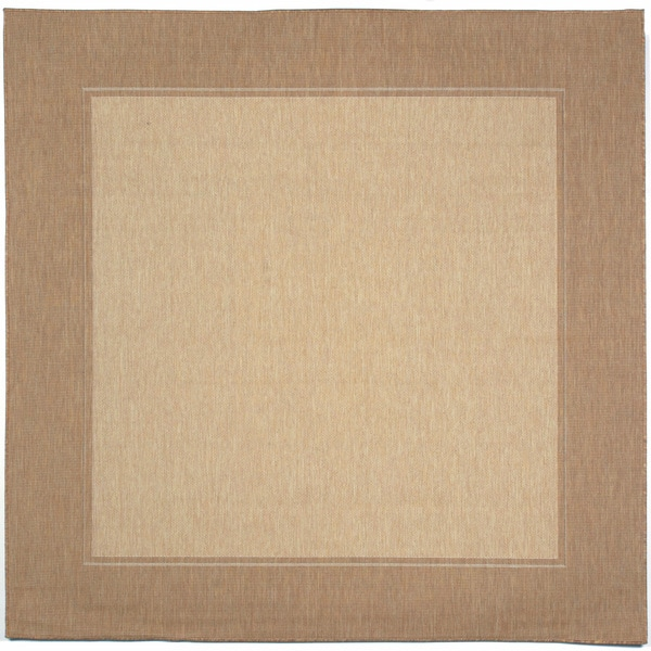Simple Border Outdoor Rug 7 10 Square
