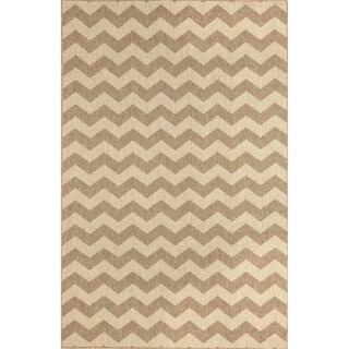 Geometric Stripe Outdoor Rug (7'10X9'10)