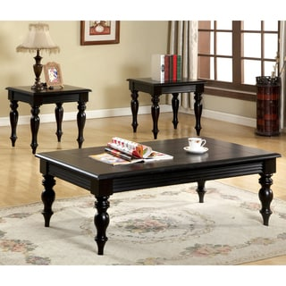 Furniture of America Steward Black 3-Piece Accent Table Set