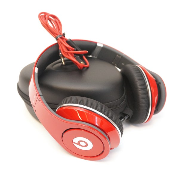 Beats by Dre Studio Red Over-ear Active Noise Canceling Headphones (Refurbished)