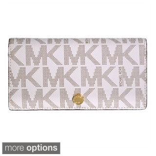 MICHAEL Michael Kors Signature Large Slim Saffiano Leather Wallet