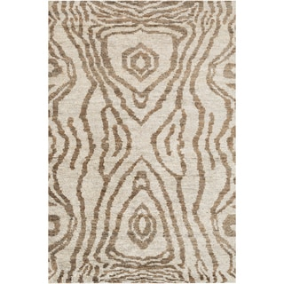 Hand-Knotted Roth Abstract Pattern Hemp Rug (8' x 11')
