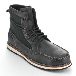 Polar Fox Men's MPX-508013 Black Leatherette Lace-up Boots